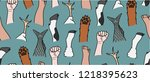animal liberation fists repeat...   Shutterstock .eps vector #1218395623