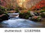 Autumn River Cascade With...