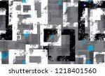 tech geometric camouflage... | Shutterstock .eps vector #1218401560