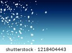 realistic snowflakes background.... | Shutterstock .eps vector #1218404443