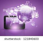 social network  communication... | Shutterstock . vector #121840603