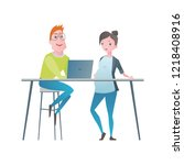 office team. vector... | Shutterstock .eps vector #1218408916