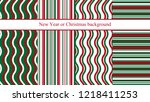 set of four new year or... | Shutterstock .eps vector #1218411253