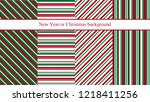 set of four new year or... | Shutterstock .eps vector #1218411256