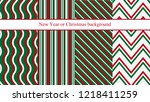 set of four new year or... | Shutterstock .eps vector #1218411259