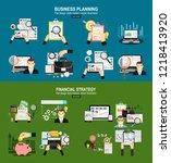 financial management  analysis... | Shutterstock .eps vector #1218413920