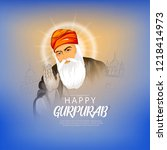 illustration of happy gurpurab  ... | Shutterstock .eps vector #1218414973