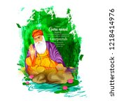 illustration of happy gurpurab  ... | Shutterstock .eps vector #1218414976