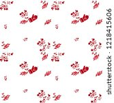 seamless christmas pattern with ... | Shutterstock .eps vector #1218415606