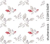 seamless christmas pattern with ...   Shutterstock .eps vector #1218415609