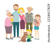 family portrait   parents ... | Shutterstock .eps vector #1218417829
