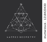 esoteric sacred geometry vector ... | Shutterstock .eps vector #1218420430