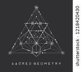 esoteric sacred geometry vector ... | Shutterstock .eps vector #1218420430
