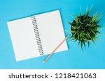 office desk working space  ... | Shutterstock . vector #1218421063