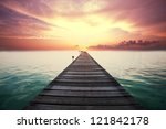 boardwalk on beach | Shutterstock . vector #121842178