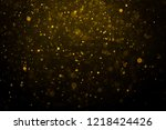 abstract gold bokeh with black... | Shutterstock . vector #1218424426