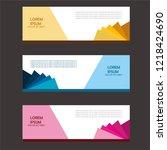 banner background.modern... | Shutterstock .eps vector #1218424690