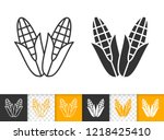 corn black linear and... | Shutterstock .eps vector #1218425410