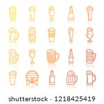 beer thin line icon set.... | Shutterstock .eps vector #1218425419