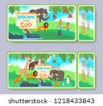 zoo admission tickets with...   Shutterstock . vector #1218433843