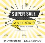 super sale  weekend special... | Shutterstock .eps vector #1218435403