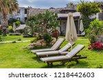 malia  crete  greece   may 17 ... | Shutterstock . vector #1218442603