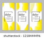 creative fluid style poster set.... | Shutterstock .eps vector #1218444496