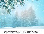 merry christmas and happy new... | Shutterstock . vector #1218453523