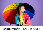 kid girl happy hold colorful... | Shutterstock . vector #1218454330