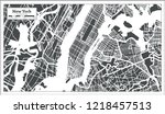 new york usa city map in retro... | Shutterstock .eps vector #1218457513