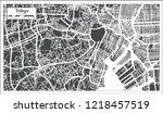 tokyo japan city map in retro... | Shutterstock .eps vector #1218457519
