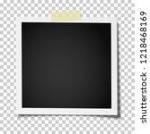 retro realistic square photo... | Shutterstock .eps vector #1218468169
