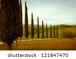 typical tuscan countryside with ... | Shutterstock . vector #121847470
