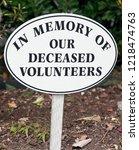 in memory of our deceased... | Shutterstock . vector #1218474763