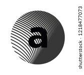 logo letter a lowercase texture ... | Shutterstock .eps vector #1218477073