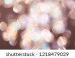Stock photo pale rose or dusty rose festive bokeh background big size bokeh lights 1218479029