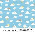 cute cloud background. cloud... | Shutterstock .eps vector #1218482023