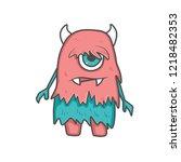 sweet vector monsters   Shutterstock .eps vector #1218482353