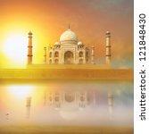 taj mahal india sunset. agra ... | Shutterstock . vector #121848430
