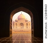 india. taj mahal indian palace. ... | Shutterstock . vector #121848463