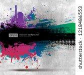 grunge old paper background... | Shutterstock .eps vector #1218486553