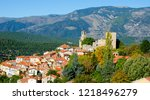 vernet les bains in the... | Shutterstock . vector #1218496279