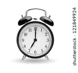 alarm clock on white background | Shutterstock . vector #121849924