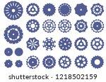 cogwheel flat machine gear icon.... | Shutterstock .eps vector #1218502159