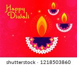 happy diwali poster  header ... | Shutterstock .eps vector #1218503860