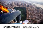 aerial drone view  of new york... | Shutterstock . vector #1218519679
