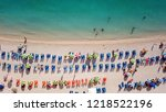 aerial drone photo of tropical... | Shutterstock . vector #1218522196
