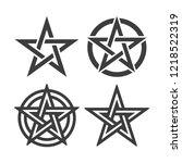 star of pentagram symbol vector ... | Shutterstock .eps vector #1218522319