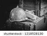 Military Helmet On Ammo Boxes ...