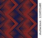 trendy geometric pattern.... | Shutterstock .eps vector #1218551680